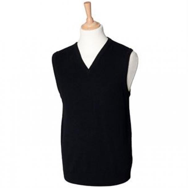 Sleeveless lambswool v-neck jumper