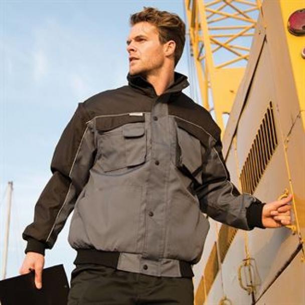 Work-Guard zip sleeve heavy-duty pilot jacket