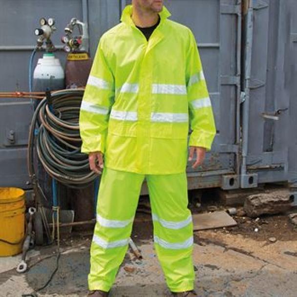High-viz waterproof suit