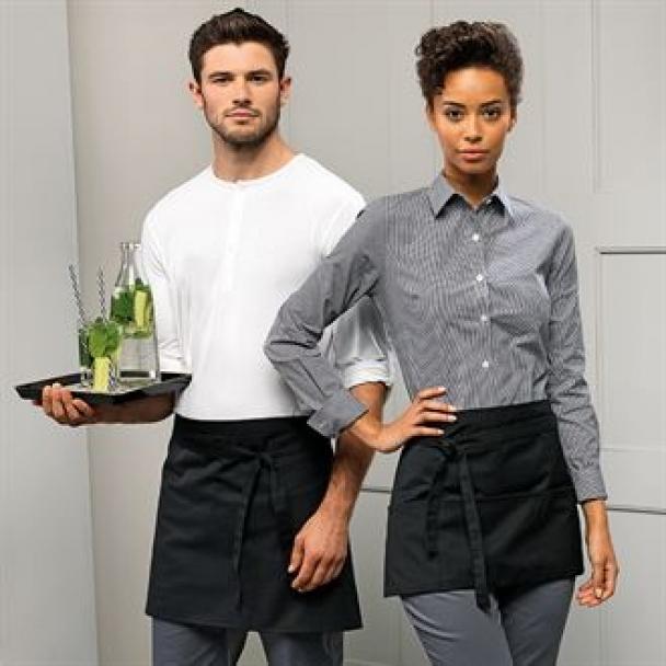 3-open-pocket waist apron