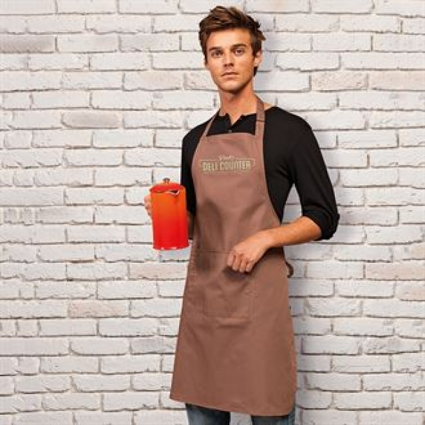 Colours bib apron with pocket