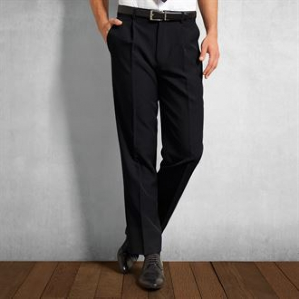 Polyester trousers (single pleat)
