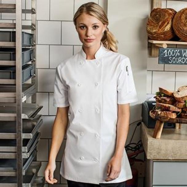 Women's short sleeve chef's jacket