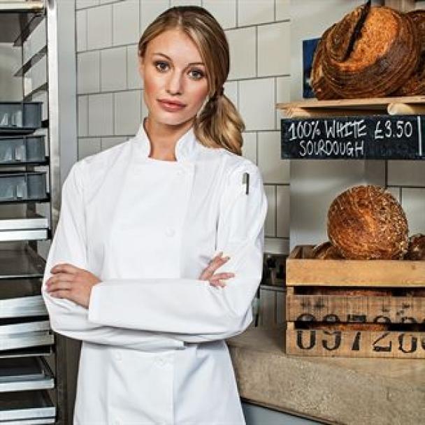 Women's long sleeve chef's jacket