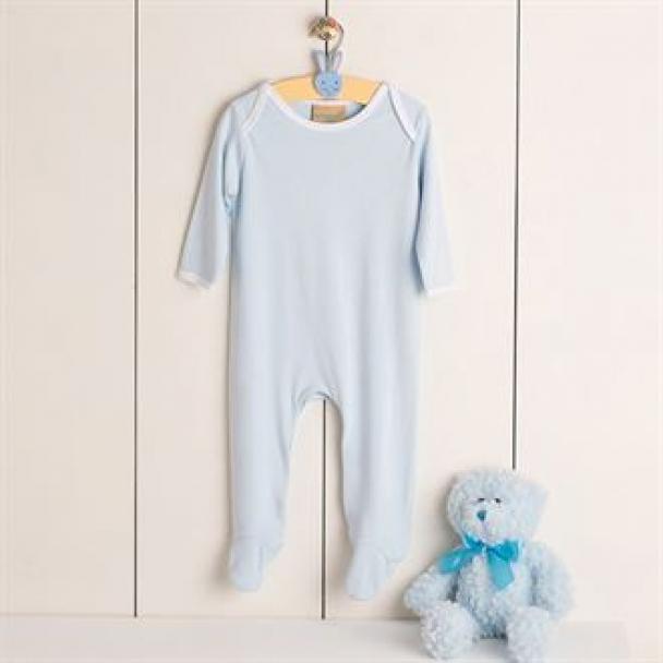 Contrast long sleeve sleepsuit