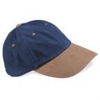 Low-profile heavy brushed cotton cap