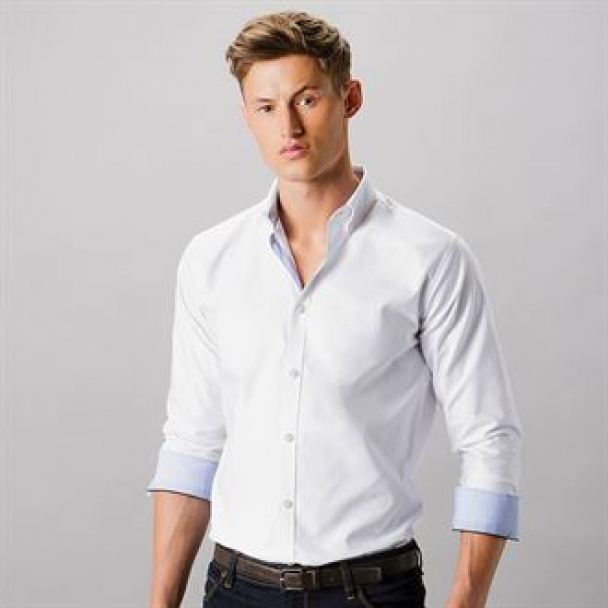Clayton & Ford contrast oxford shirt long sleeve