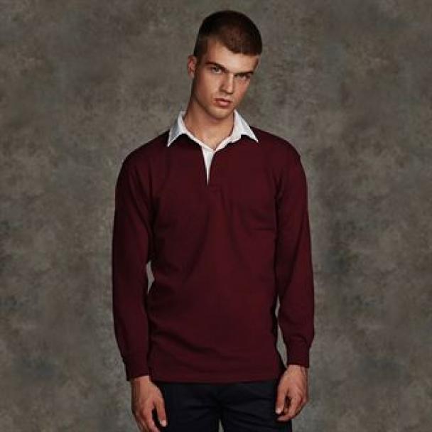 Long sleeve plain rugby shirt