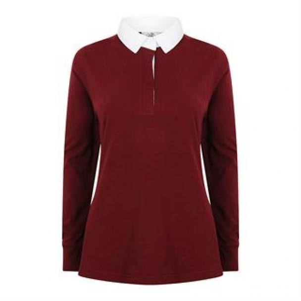 Women's long sleeve plain rugby shirt